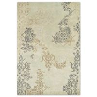 Kaleen Mercery Stencil 2-Foot x 3-Foot Accent Rug in Beige