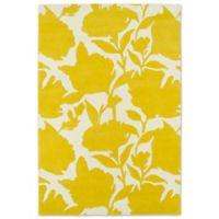 Kaleen Melange Floral Impressions 3-Foot x 5 Foot Rug in Yellow