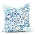Deny  Designs Rosebudstudio Wild Heart Square Throw Pillow in Blue