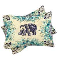 DENY Designs Rosebudstudio Wild Heart King Pillow Shams in Blue (Set of 2)