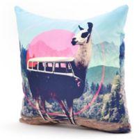 DENY Designs Rosebudstudio Boho Mama 16-Inch Square Throw Pillow