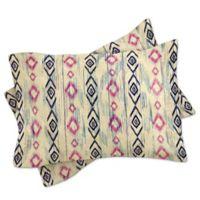DENY Designs Rosebudstudio Boho Mama Standard Pillow Sham in Pink/Navy