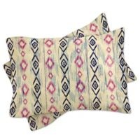 DENY Designs Rosebudstudio Boho Mama King Pillow Shams in Pink/Navy (Set of 2)