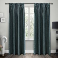 Exclusive Home Saturn 96-Inch Rod Pocket Window Curtain Panel Pair in Cobalt
