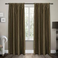 Exclusive Home Saturn 96-Inch Rod Pocket Window Curtain Panel Pair in Cappuccino