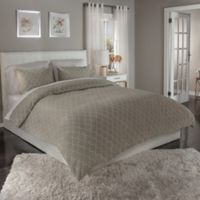 m.style Ogee Reversible Full/Queen Duvet Cover Set in Taupe