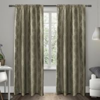 Exclusive Home Como 84-Inch Rod Pocket Window Curtain Panel Pair in Stone
