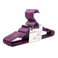 Attachable Hangers in Purple (Set of 16)