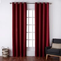 Exclusive Home Firenze 96-Inch Grommet Top Window Curtain Panel Pair in Chili
