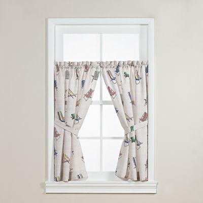 Tommy BahamaR Beach Chair Window Curtain Panel In Beige