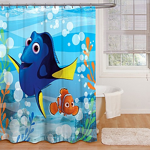 Finding Dory Quot Adoryble Quot Shower Curtain Bed Bath Amp Beyond