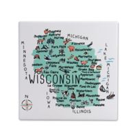 "My Place Wisconsin 7.75"" Square Trivet"