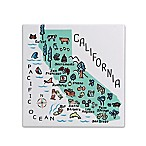 "My Place California 7.75"" Square Trivet"