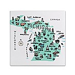My Place Michigan 7.75  Square Trivet
