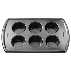 Wilton 174 Advance Select Premium Nonstick 6 Cup Muffin Pan
