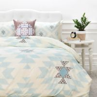 DENY Designs Dash and Ash Dwelling Dawn Twin Duvet Cover in Cream/Blue