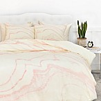 Deny Designs Rebecca Allen Blush Marble Queen Duvet Cover in Pink