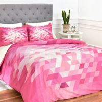 Deny Designs Deniz Ercelebi Cluster 3 King Duvet Cover in Pink