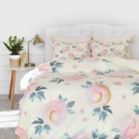 DENY Designs Iveta Abolina Rose Taffy Queen Duvet Cover in Pink