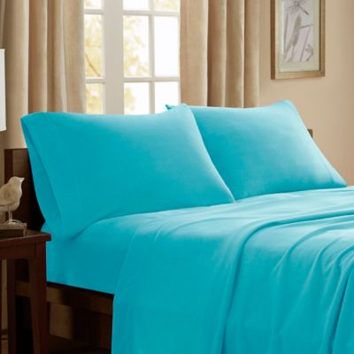 Captivating Peak Performance 3M Scotchgard Microfleece Full Sheet Set In Aqua