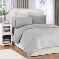Premier Comfort® Soloft Plush Full Sheet Set in Grey