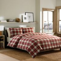 Eddie Bauer® Navigation Plaid King Comforter Set in Red