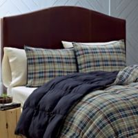 Eddie Bauer® Rugged Plaid Twin Comforter Set in Blue