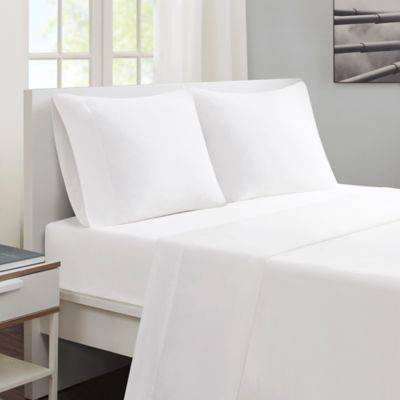 Sleep Philosophy® Smart Cool Queen Sheet Set In White