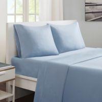 Sleep Philosophy® Smart Cool Twin Sheet Set in Aqua