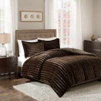 Madison Park Duke Faux Fur King/California King Comforter Set in Chocolate