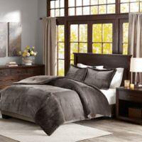 Premier Comfort Parker Full/Queen Corduroy Comforter Set in Grey