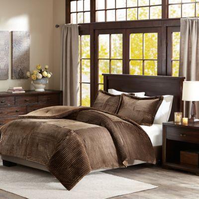 premier comforter parker king corduroy comforter set in brown