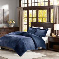 Premier Comforter Parker Twin Corduroy Comforter Set in Navy
