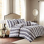 Madison Park Zuri Fur King/California King Comforter Set in Grey