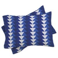 DENY Designs Zoe Wodarz Indigo Triangle Standard Pillow Sham in Blue