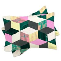 DENY Designs Dash and Ash Sunday Vibes Standard Pillow Shams in Green/Pink (Set of 2)