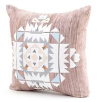 DENY Designs Iveta Abolina Cream Tribal Square Throw Pillow in Brown