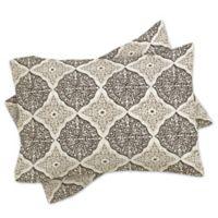 DENY Designs Belle13 Curly Rhombus Standard Pillow Sham in Beige