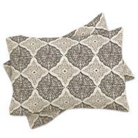 DENY Designs Belle13 Curly Rhombus King Pillow Shams in Beige (Set of 2)