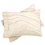 Deny Designs Rebecca Allen Blush Marble Standard Pillow Sham in Pink