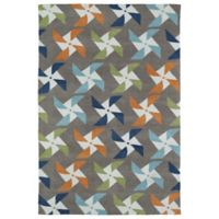 Kaleen Lily & Liam Pinwheel 4-Foot x 6-Foot Area Rug in Taupe