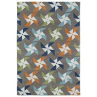 Kaleen Lily & Liam Pinwheel 5-Foot x 7-Foot Area Rug in Taupe
