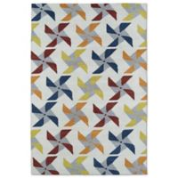 Kaleen Lily & Liam Pinwheel 5-Foot x 7-Foot Area Rug in Ivory