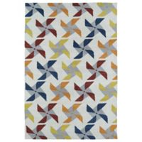Kaleen Lily & Liam Pinwheel 8-Foot x 10-Foot Area Rug in Ivory