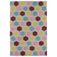 Kaleen Lily & Liam 2-Foot x 3-Foot Honeycomb Rug in Pink