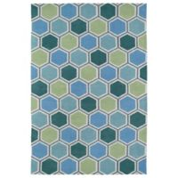 Kaleen Lily & Liam 2-Foot x 3-Foot Honeycomb Rug in Blue