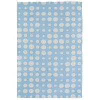 Kaleen Lily & Liam Bubbles 4-Foot x 6-Foot Rug in Blue