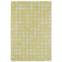 Kaleen Lily & Liam Bubbles 5-Foot x 7-Foot Rug in Yellow