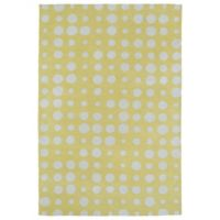 Kaleen Lily & Liam Bubbles 8-Foot x 10-Foot Rug in Yellow