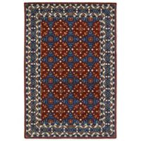 Kaleen Middleton Mosaic 5-Foot x 7-Foot 9-Inch Area Rug in Red